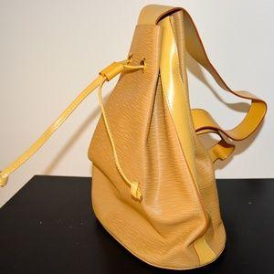 Handbags - NEW Tan Genuine Ribbed Leather Italian Backpack